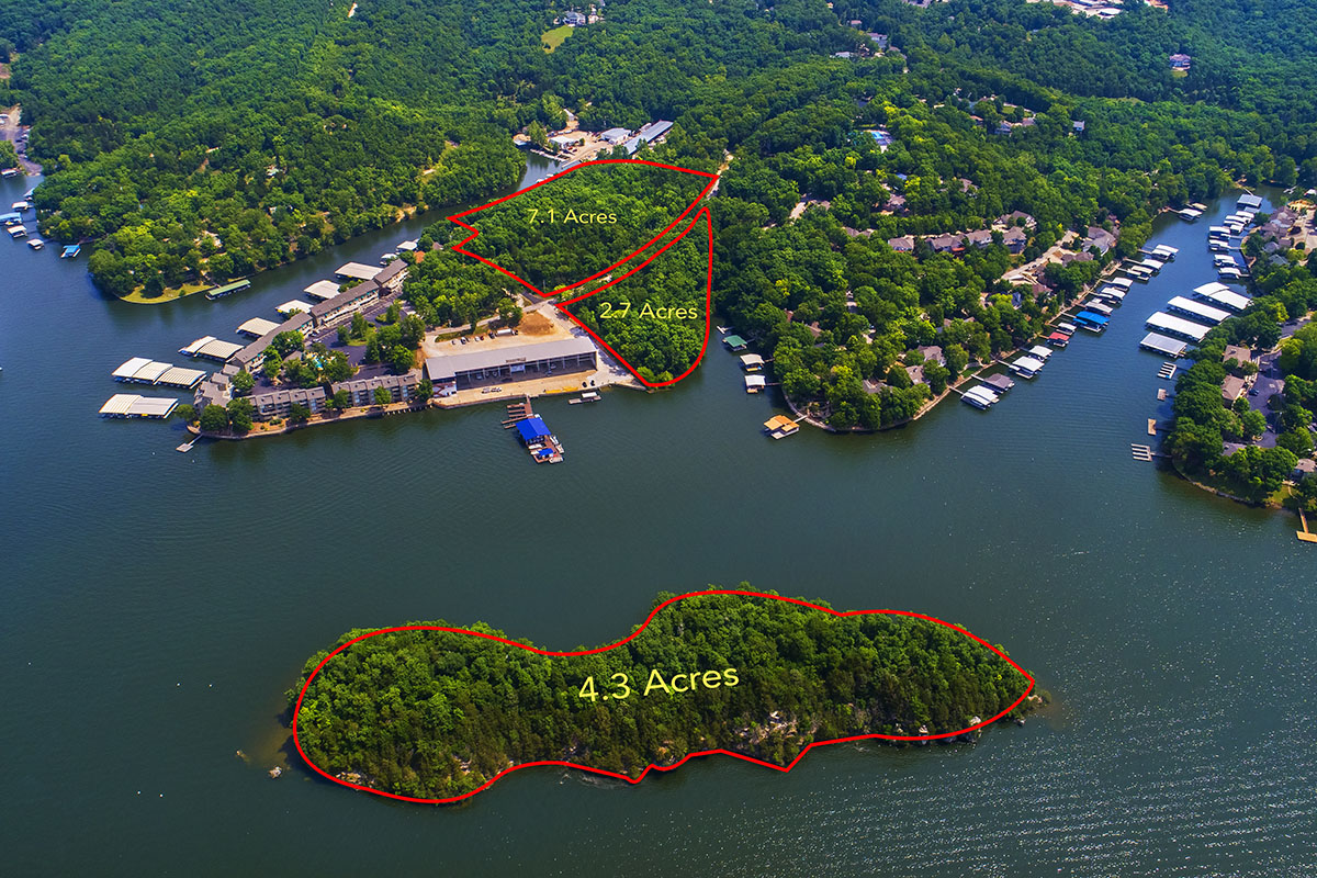 14.1 Acres for Sale in Osage Beach with Private Island