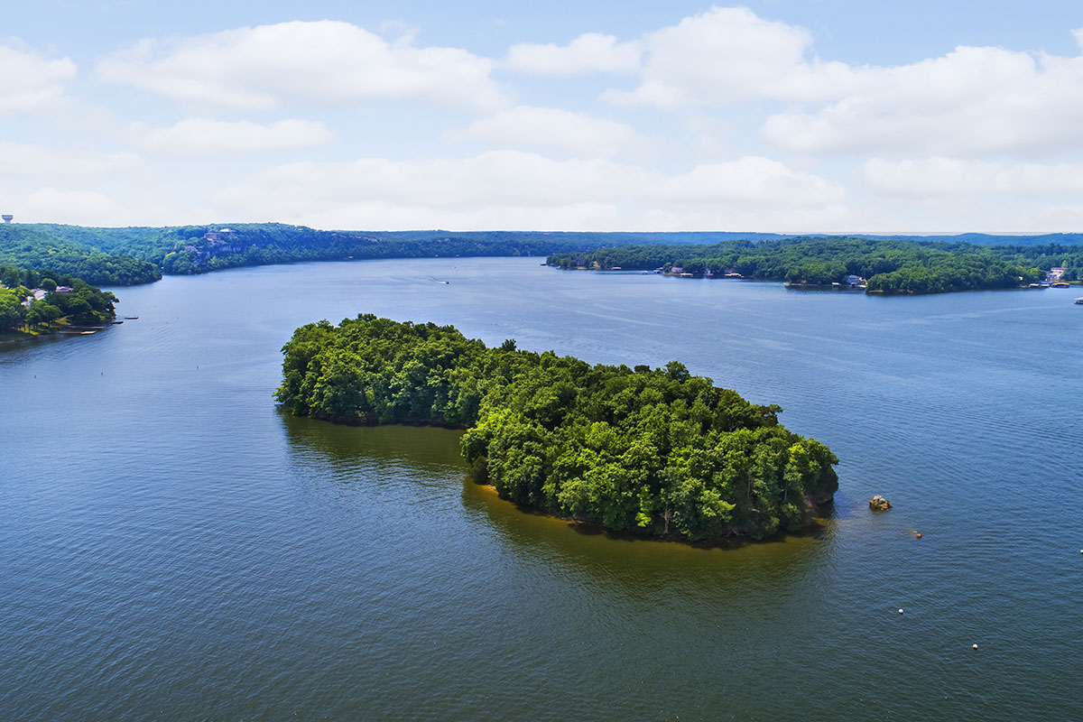 Untouched Island at Lake of the Ozarks