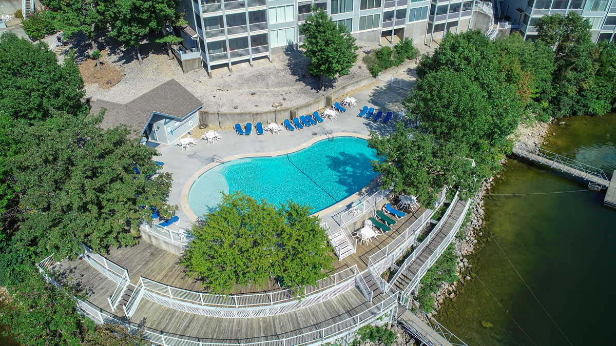 Lake Ozark, MO Condo Overview of pool